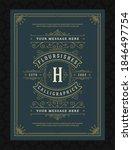 vintage ornament greeting card...   Shutterstock .eps vector #1846497754