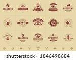 butcher shop logos set vector... | Shutterstock .eps vector #1846498684
