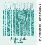 honolulu hawaii aloha state... | Shutterstock .eps vector #1846500871