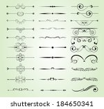 set of decorative calligraphic... | Shutterstock .eps vector #184650341