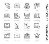 online education outline icons  ... | Shutterstock .eps vector #1846504987