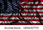 american flag background with...   Shutterstock . vector #184650755