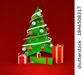 christmas tree with gifts  new... | Shutterstock . vector #1846508317