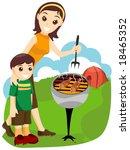 family camping   vector | Shutterstock .eps vector #18465352