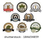 brewery and beer labels logo... | Shutterstock .eps vector #184654859