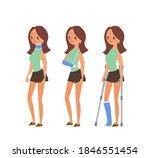 injured woman cartoon...   Shutterstock .eps vector #1846551454