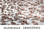 clean marble and copper... | Shutterstock . vector #1846555441