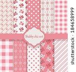 shabby chic set | Shutterstock .eps vector #184658999