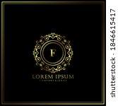 f initial letter luxury logo... | Shutterstock .eps vector #1846615417