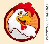 chicken mascot cartoon in vector | Shutterstock .eps vector #1846615651