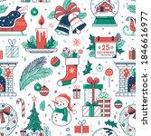 Christmas Flat Seamless Pattern....