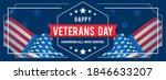 veterans day banner vector... | Shutterstock .eps vector #1846633207