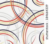 abstract background of circles. ... | Shutterstock .eps vector #184664339