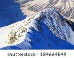 mountain landscape in winter... | Shutterstock . vector #184664849