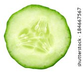 Sliced Cucumber Isolated On...