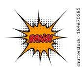 cartoon bang  | Shutterstock .eps vector #184670285