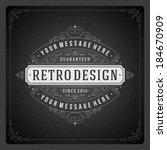 retro chalkboard typographic... | Shutterstock .eps vector #184670909