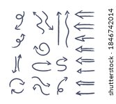 hand drawn arrows collection....   Shutterstock .eps vector #1846742014
