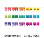 colorful rainbow spectrum new... | Shutterstock .eps vector #184677059