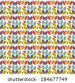 aztec pattern  tile in swatches | Shutterstock .eps vector #184677749
