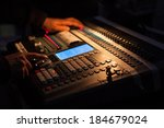 professional lighting console | Shutterstock . vector #184679024
