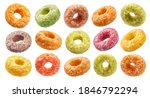 Colorful Corn Rings Isolated On ...