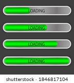 a set of download progress... | Shutterstock .eps vector #1846817104