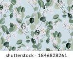 eucalyptus watercolor leaf... | Shutterstock .eps vector #1846828261