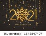 happy new 2021 year. hanging...   Shutterstock .eps vector #1846847407
