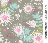 seamless floral pattern | Shutterstock .eps vector #184685771