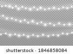 Christmas Lights On Transparent ...