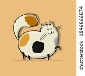 funny cat character  sketch for ... | Shutterstock .eps vector #1846866874