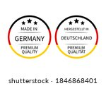 made in germany round labels ... | Shutterstock .eps vector #1846868401