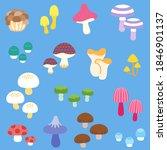 a variety of fancy mushrooms ... | Shutterstock .eps vector #1846901137