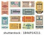 museum retro tickets  admits... | Shutterstock .eps vector #1846914211