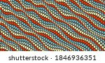 wavy dotted background with... | Shutterstock .eps vector #1846936351