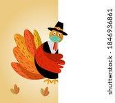 Cute Cartoon Turkey Wearing...