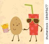 illustration of potato and coke ...   Shutterstock .eps vector #184695677
