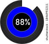 88  circle percentage diagram...