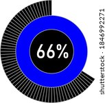 66  circle percentage diagram...