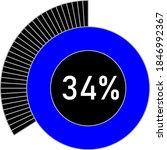 34  circle percentage diagram...