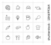 vector black pictogram food and ... | Shutterstock .eps vector #184699364