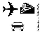 transportation icons | Shutterstock . vector #184699454
