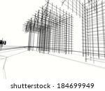 abstract architecture | Shutterstock . vector #184699949
