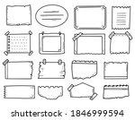 bullet journal notes drawing... | Shutterstock .eps vector #1846999594