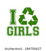 i recycle girls template  ... | Shutterstock .eps vector #184700627