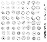 halftone dots in circle form.... | Shutterstock .eps vector #1847010874