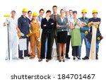 group of workers people....   Shutterstock . vector #184701467