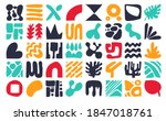 collection of minimal style... | Shutterstock .eps vector #1847018761