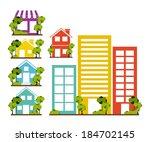 urban design over white... | Shutterstock .eps vector #184702145